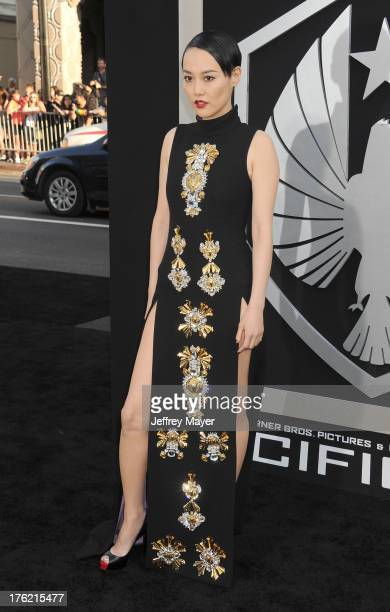 Actress Rinko Kikuchi arrives at the 'Pacific Rim' - Los Angeles Premiere at Dolby Theatre on July 9, 2013 in Hollywood, California.
