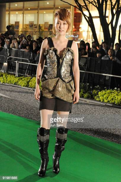 Actress Rinko Kikuchi attends the 22nd Tokyo International Film Festival Opening Ceremony at Roppongi Hills on October 17 2009 in Tokyo Japan TIFF...