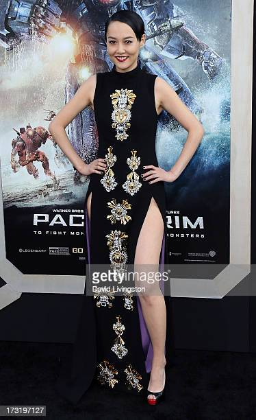 Actress Rinko Kikuchi attends the premiere of Warner Bros Pictures and Legendary Pictures' Pacific Rim at the Dolby Theatre on July 9 2013 in...