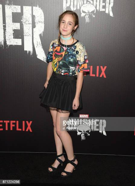 Actress Ripley Sobo attends the 'Marvel's The Punisher' New York Premiere on November 6 2017 in New York City