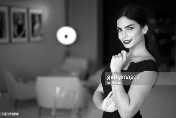 Actress Rita Hayek of 'The Insult' wearing a JaegerLeCoultre RendezVous Night Day watch poses for a portrait during the 74th Venice Film Festival in...