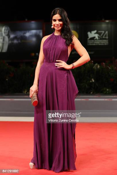 Actress Rita Hayek wearing a JaegerLeCoultre Reverso One Duetto Moon watch attends the 'The Insult' premiere during the 74th Venice Film Festival at...