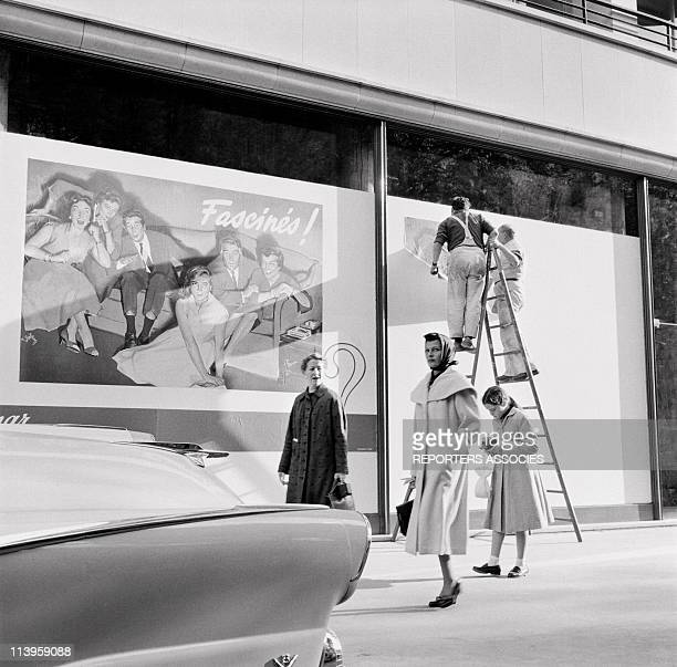 Actress Rita Hayworth and daughter Rebecca In Paris France In 1950Rita Hayworth and daughter Rebecca strolling in a street