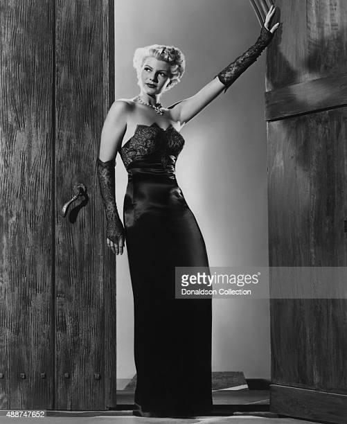 Actress Rita Hayworth poses for a publicity still for the Columbia Pictures movie 'The Lady from Shanghai' in 1947