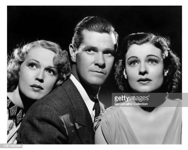 Actress Rita Johnson as 'Agnes', Actor Paul Kelly as 'Joe Garson' and Actress Ruth Hussey as 'Mary Turner' in a publicity shot from the movie 'Within...