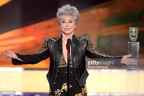 Actress Rita Moreno accepts the Screen Actors Guild Life Achievement Award onstage during the 20th Annual Screen Actors Guild Awards at The Shrine...