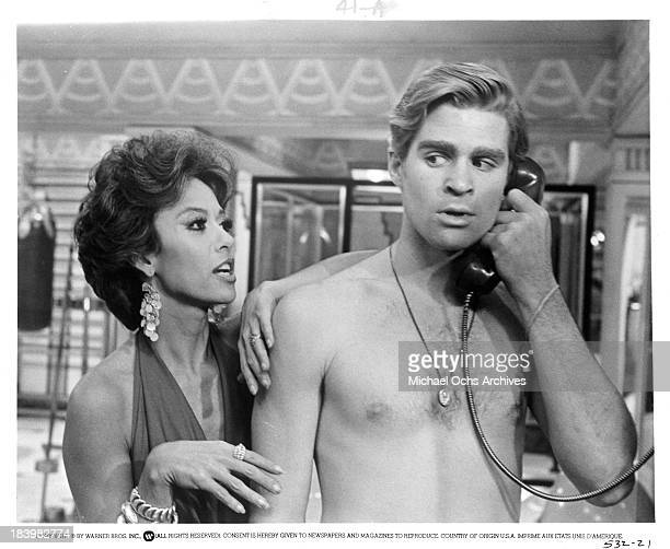 Actress Rita Moreno actor Treat Williams on set of the Warner Bros movie'The Ritz' in 1976