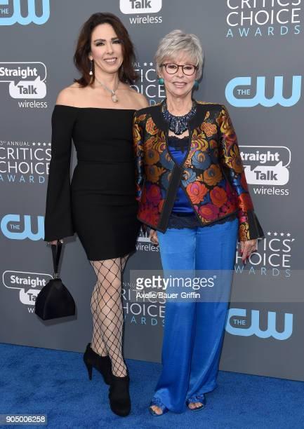 Actress Rita Moreno and daughter Fernanda Luisa Gordon attend the 23rd Annual Critics' Choice Awards at Barker Hangar on January 11 2018 in Santa...