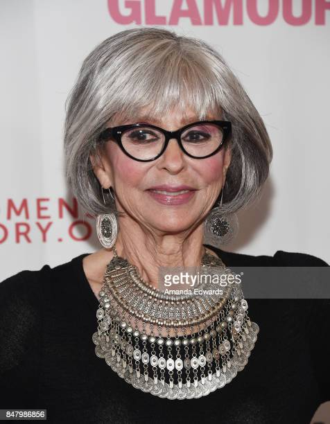 Actress Rita Moreno arrives at the 6th Annual Women Making History Awards at The Beverly Hilton Hotel on September 16 2017 in Beverly Hills California