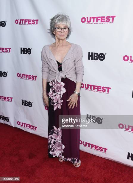 Actress Rita Moreno arrives at the Outfest Documentary Competition Screening of 'Every Act Of Life' at the DGA Theater on July 15 2018 in Los Angeles...