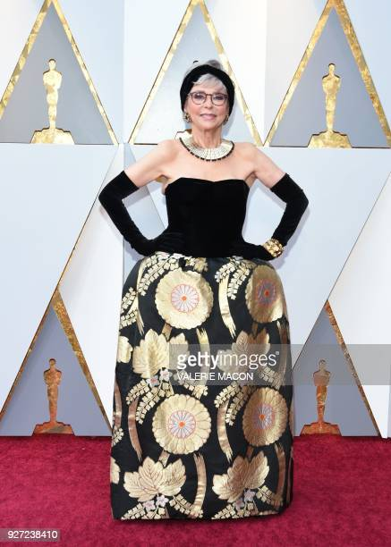 Actress Rita Moreno arrives for the 90th Annual Academy Awards on March 4 in Hollywood California / AFP PHOTO / VALERIE MACON