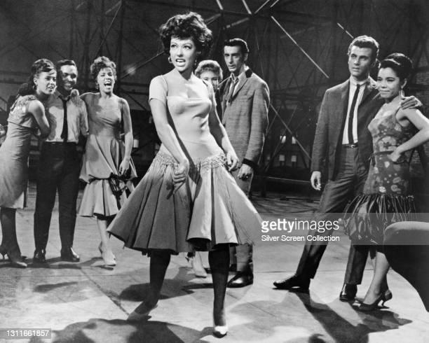 Actress Rita Moreno as 'Anita' in musical romantic drama film West Side Story, 1961.