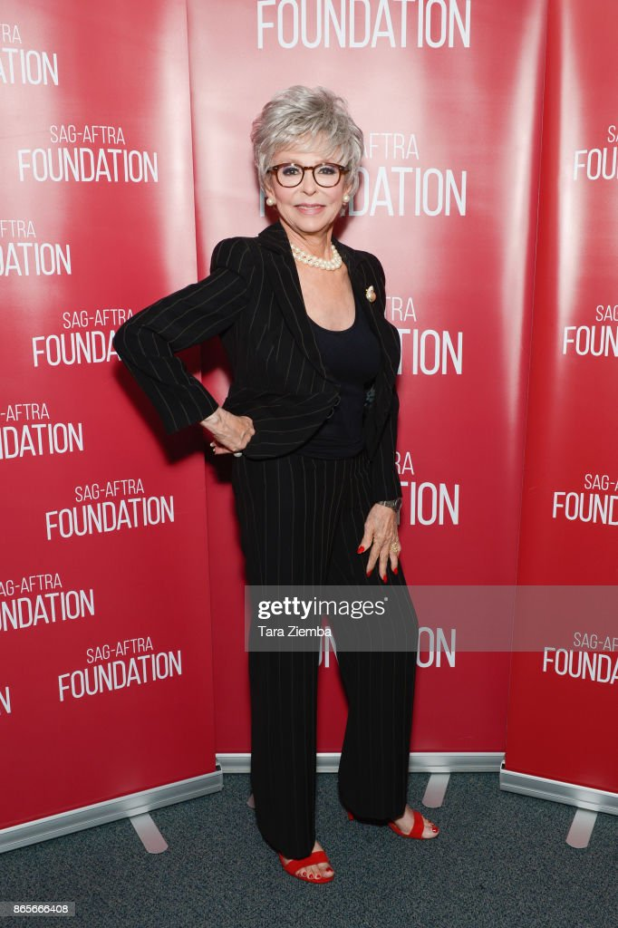 Actress Rita Moreno attends the SAG-AFTRA Foundation conversations and screening of 'One Day At A Time' at SAG-AFTRA Foundation Screening Room on October 23, 2017 in Los Angeles, California.