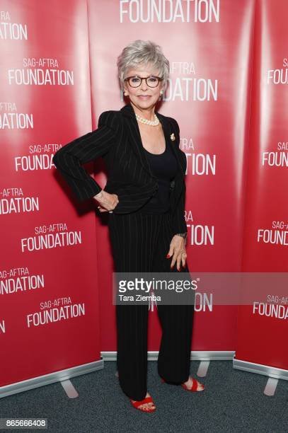 Actress Rita Moreno attends the SAGAFTRA Foundation conversations and screening of 'One Day At A Time' at SAGAFTRA Foundation Screening Room on...