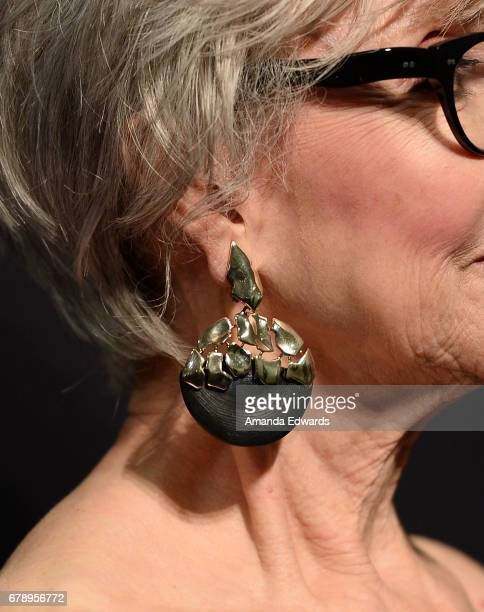 Actress Rita Moreno earring detail arrives at the 2017 PaleyLive LA Spring Season An Evening With 'One Day At A Time' screening and panel...