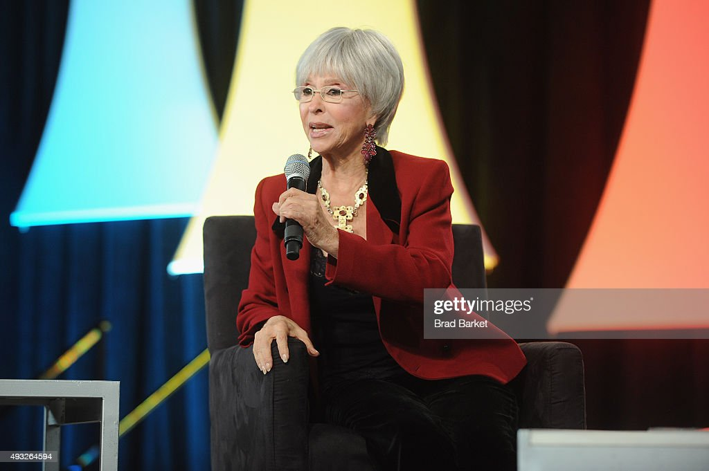 Actress Rita Moreno speaks onstage during Festival PEOPLE En Espanol 2015 presented by Verizon at Jacob Javitz Center on October 18, 2015 in New York City.