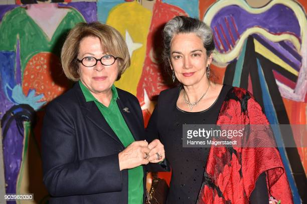 Actress Rita Russek and Irina Wanka during 'Der andere Laufsteg' exhibition opening in Munich at Staatliches Museum Aegyptischer Kunst on January 11,...