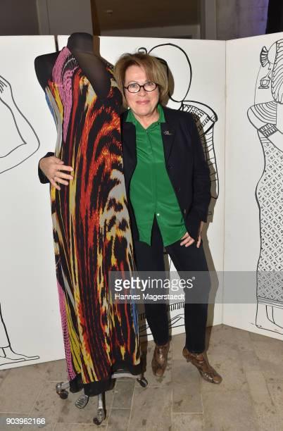 Actress Rita Russek during 'Der andere Laufsteg' exhibition opening in Munich at Staatliches Museum Aegyptischer Kunst on January 11, 2018 in Munich,...
