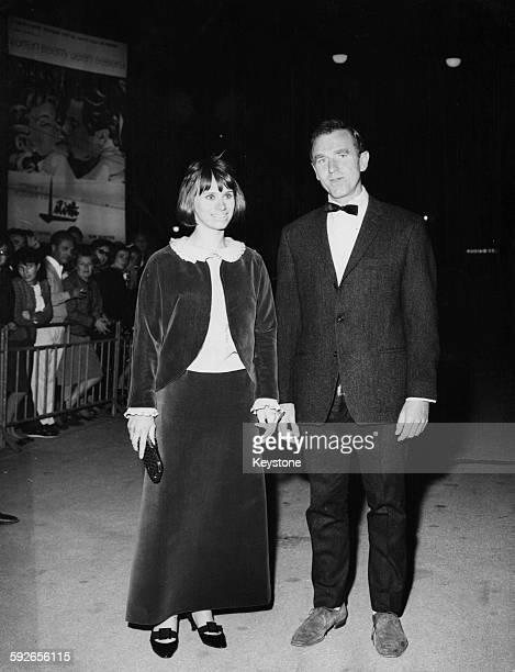 Actress Rita Tushingham and director Desmond Davis attending the 25th International Film Festival in Venice 1964