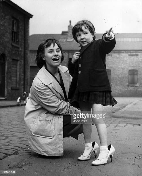 Actress Rita Tushingham gets to know Elaine Yates, a young resident of Salford in Greater Manchester, to prepare for her part in 'A Taste of Honey',...