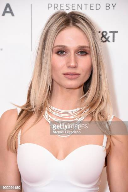 Actress Rita Volk attends the premiere of Summertime with Tribeca Talks Storytellers during the 2018 Tribeca Film Festival at BMCC Tribeca PAC on...