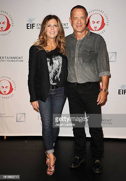 Actress Rita Wilson and actor Tom Hanks attend the 23rd annual Simply Shakespeare benefit reading of The Two Gentlemen of Verona at The Eli and...