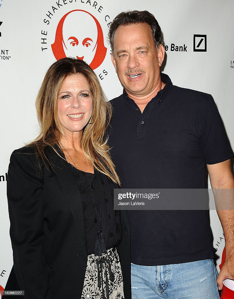 Actress Rita Wilson and actor Tom Hanks attend the Shakespeare Center of Los Angeles' 22nd annual 'Simply Shakespeare' event at Freud Playhouse, UCLA on September 27, 2012 in Westwood, California.