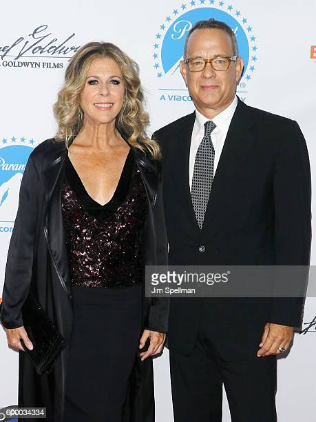 Actress Rita Wilson and actor/director Tom Hanks attend the 'Brother Nature' New York Premiere at Regal EWalk 13 on September 7 2016 in New York City