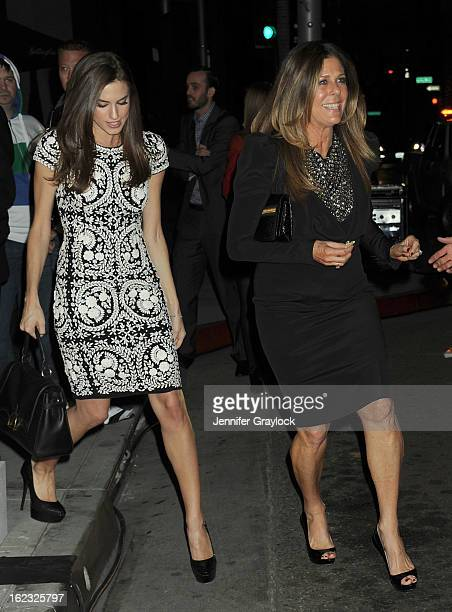 Actress Rita Wilson and Allison Williams attends the Tom Ford cocktail party in support of Project Angel Food Media held at TOM FORD boutique on...