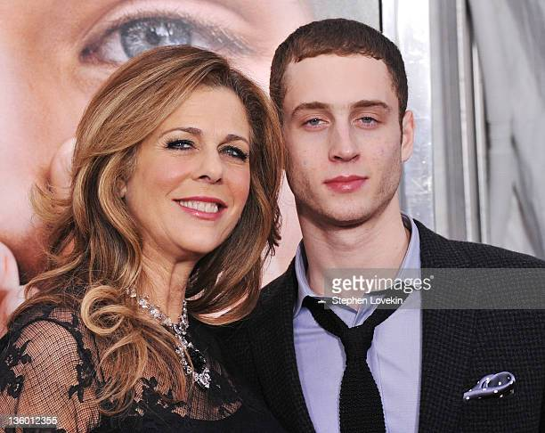 Actress Rita Wilson and Chester Marlon Hanks attend the Extremely Loud Incredibly Close New York premiere at the Ziegfeld Theater on December 15 2011...