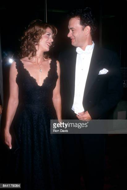 Actress Rita Wilson and husband actor Tom Hanks attend the 23rd Annual American Film Institute Lifetime Achievement Award Salute to Steven Spielberg...