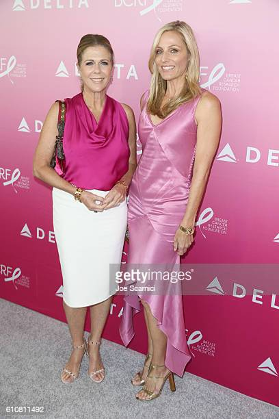 Actress Rita Wilson and Jamie Tisch attend the Breast Cancer One dinner hosted by Delta Air Lines and The Breast Cancer Research Foundation on...