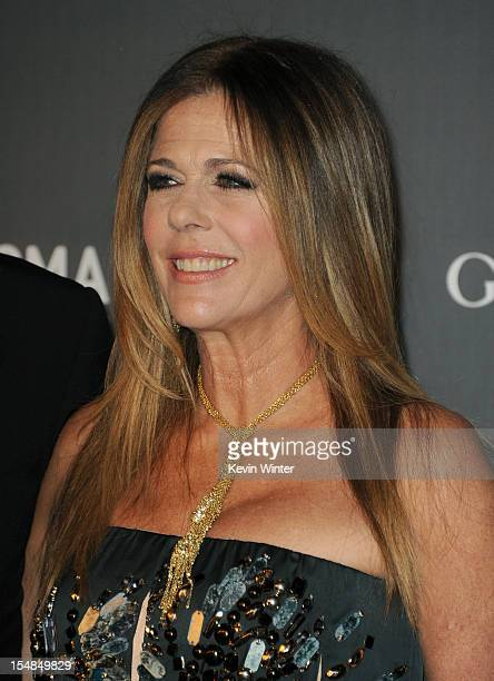 Actress Rita Wilson arrives at LACMA 2012 Art Film Gala at LACMA on October 27 2012 in Los Angeles California