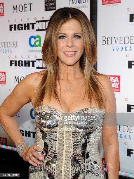 Actress Rita Wilson arrives at Muhammad Ali's Celebrity Fight Night XVIII held at JW Marriott Desert Ridge Resort Spa on March 24 2012 in Phoenix...