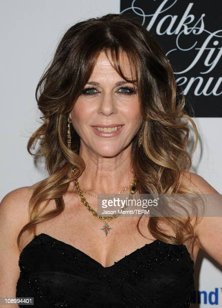 Actress Rita Wilson arrives at the 14th annual Unforgettable Evening benefiting EIF's WCRF held at Beverly Wilshire Four Seasons Hotel on February 10...