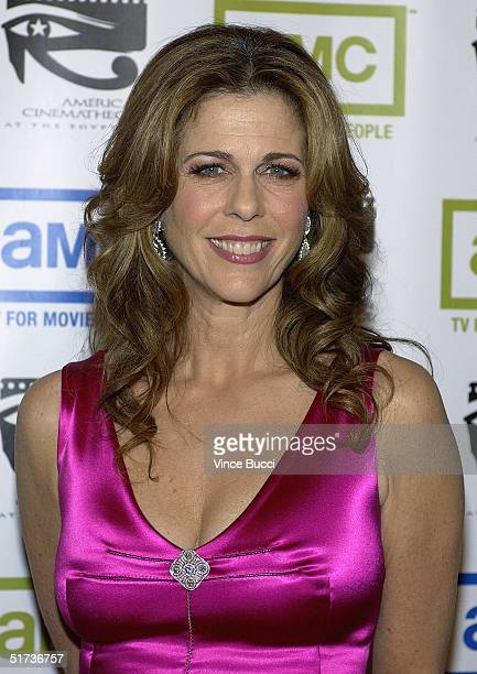 Actress Rita Wilson arrives at the 19th American Cinematheque Awards to honor Steve Martin at the Beverly Hilton Hotel on November 12, 2004 in...