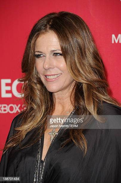 Actress Rita Wilson arrives at the 2012 MusiCares Person of the Year Tribute to Paul McCartney held at the Los Angeles Convention Center on February...