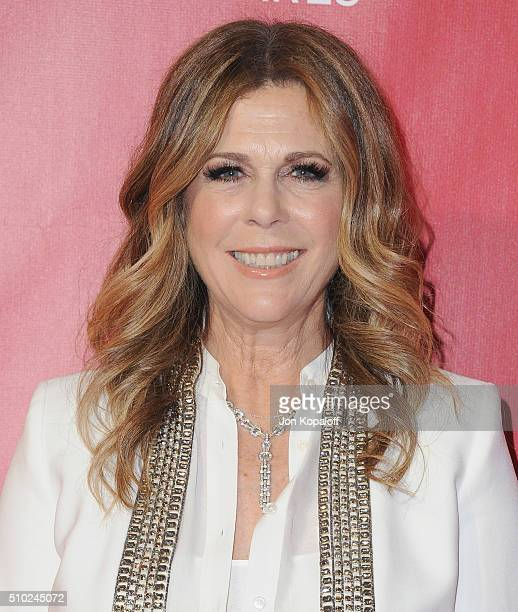 Actress Rita Wilson arrives at the 2016 MusiCares Person Of The Year Honoring Lionel Richie at Los Angeles Convention Center on February 13 2016 in...