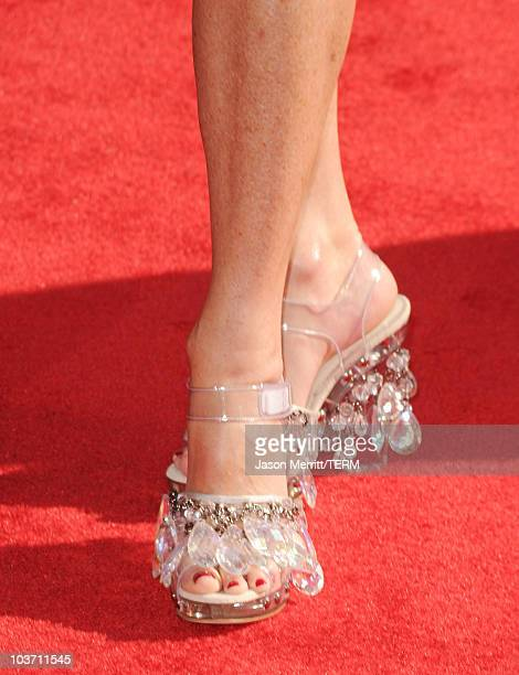 Actress Rita Wilson arrives at the 62nd Annual Primetime Emmy Awards held at the Nokia Theatre LA Live on August 29 2010 in Los Angeles California