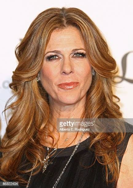 Actress Rita Wilson arrives at the 7th Annual Backstage at the Geffen Gala on March 9 2009 in Los Angeles California