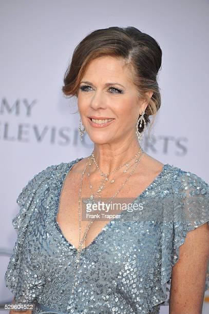 Actress Rita Wilson arrives at the BAFTA Brits To Watch event held at the Belasco Theatre