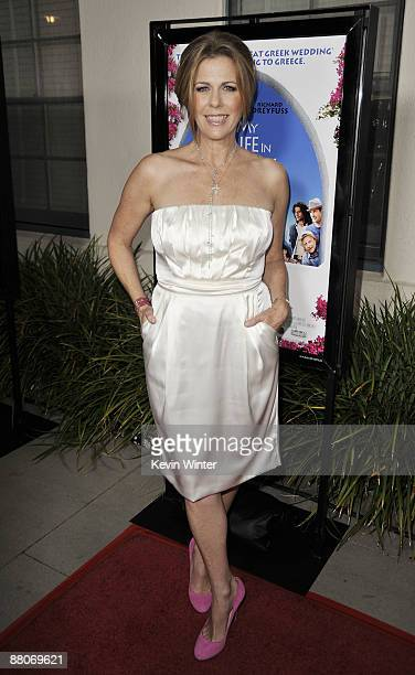 Actress Rita Wilson arrives at the premiere of Fox Searchlight's My Life in Ruins at the Zanuck Theater on May 29 2009 in Los Angeles California