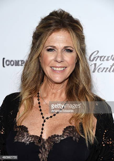 Actress Rita Wilson arrives at the premiere of Gravitas Ventures' 'All Things Must Pass' at the Harmony Gold Theatre on October 15 2015 in Los...