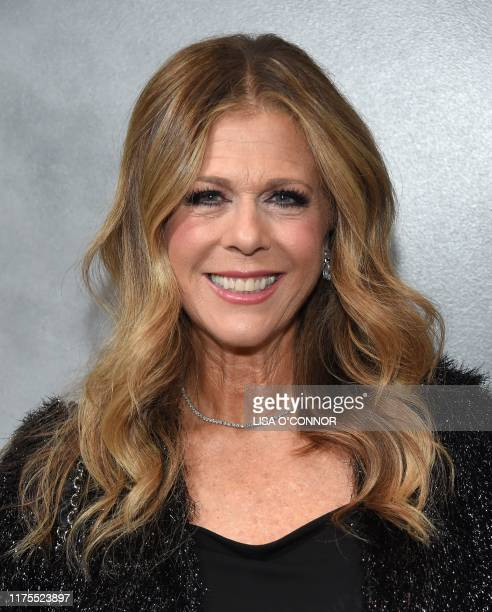 Actress Rita Wilson arrives for the Hammer Museum's 17th Annual Gala in the Garden at the Hammer Museum in Los Angeles, California, on October 12,...