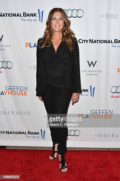Actress Rita Wilson arrives to The Geffen Playhouse's Annual Backstage at the Geffen Gala at Geffen Playhouse on May 13 2013 in Los Angeles California