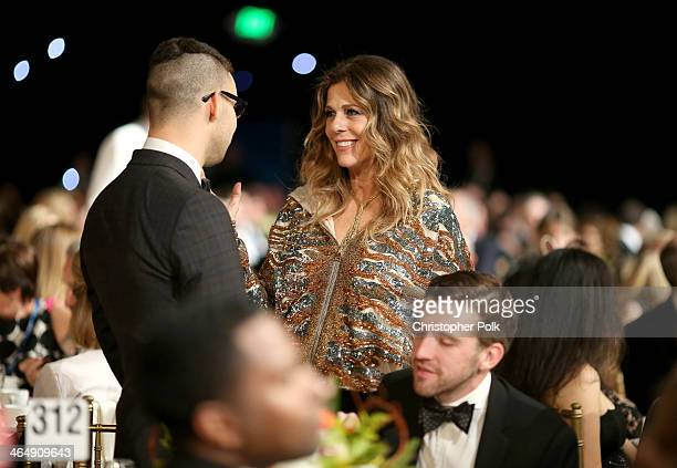 Actress Rita Wilson attends 2014 MusiCares Person Of The Year Honoring Carole King at Los Angeles Convention Center on January 24 2014 in Los Angeles...