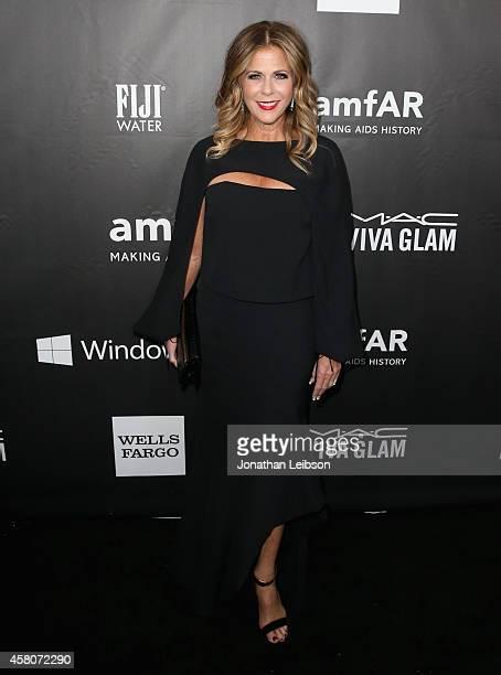 Actress Rita Wilson attends amfAR LA Inspiration Gala honoring Tom Ford at Milk Studios on October 29 2014 in Hollywood California
