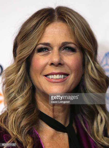Actress Rita Wilson attends Hollywood Unites for the 5th Biennial Stand Up To Cancer a program of the Entertainment Industry Foundation at Walt...