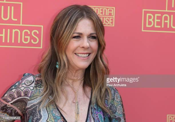 "Actress Rita Wilson attends opening night performance of ""Beautiful Things"" at Pasadena Playhouse on April 14, 2019 in Pasadena, California."