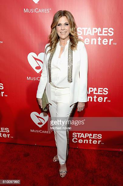 Actress Rita Wilson attends the 2016 MusiCares Person of the Year honoring Lionel Richie at the Los Angeles Convention Center on February 13, 2016 in...